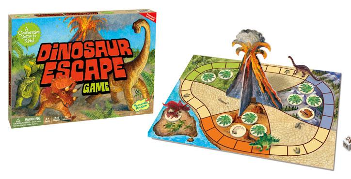 Dinosaur Escape Cooperative Board Game by Peaceable Kingdom