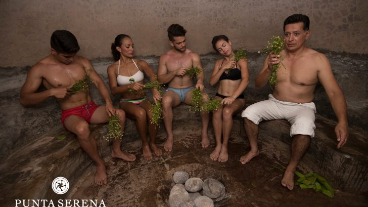 Guests doing the Temazcal Ritual