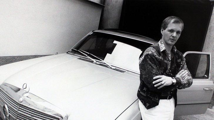 Jack Unterweger posing on a sports car